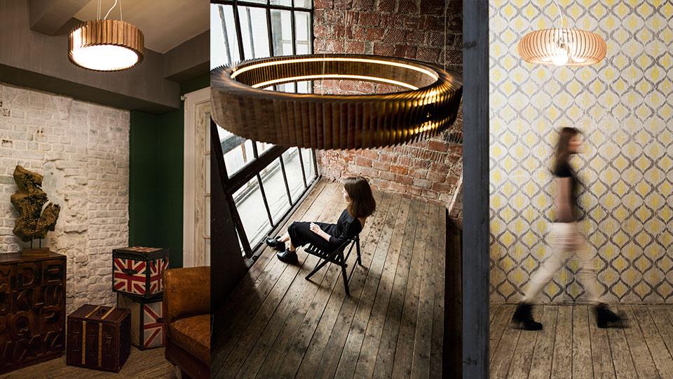 Inspired by օդանավի փայտե լամպեր Woodled