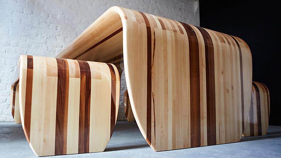 Столы и скамейки Surf‑ace от студии Duffy London