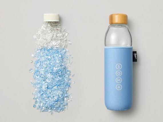 Дизайнеры превращают пластиковые отходы в многоразовые бутылки