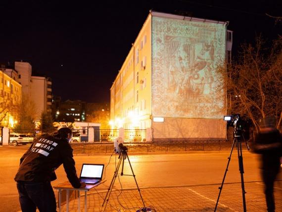 Робот-принтер напечатает репродукцию античной фрески в Екатеринбурге
