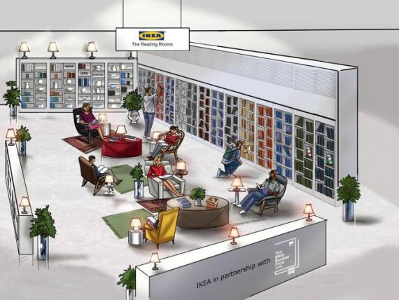 IKEA откроет читальные залы в Лондоне