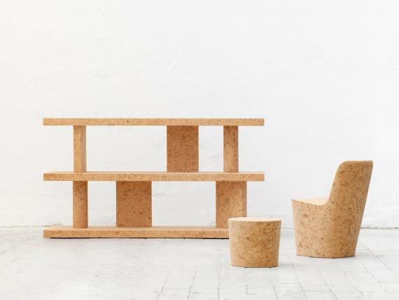 Выставка пробковой мебели Джаспера Моррисона открылась в Нью-Йорке
