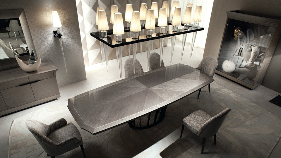 Столовые группы: пять красивых примеров в эстетике ар-деко