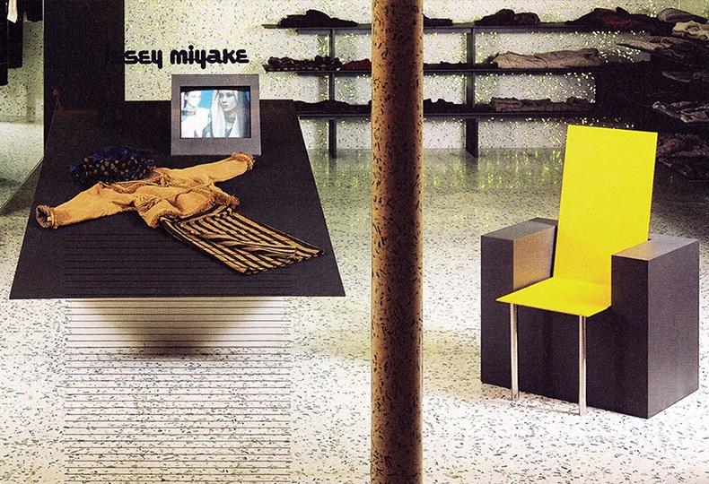 Интерьер бутика Issey Miyake в Нью-Йорке, 1984