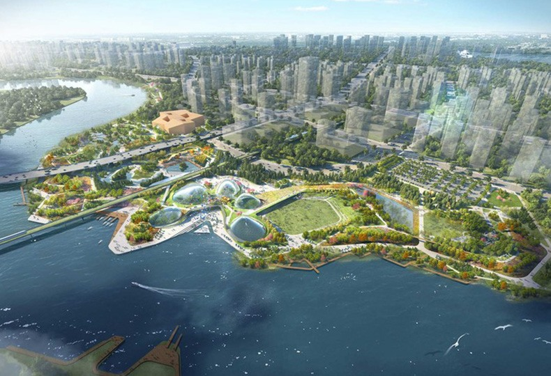 «Парк Дружбы» в Тяньцзине (Friendship Park in Tianjin) от Grant Associates, совместно с Atelier Ten и Atelier One