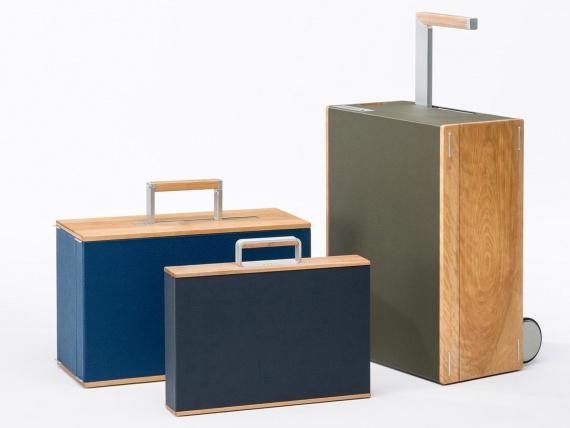 Charles Simon представили чемоданы из дерева и кожи