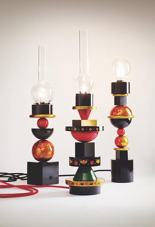Лампа-конструктор «Хохлома» Светланы Катаргиной. Российские дизайнеры на Beijing Design Week