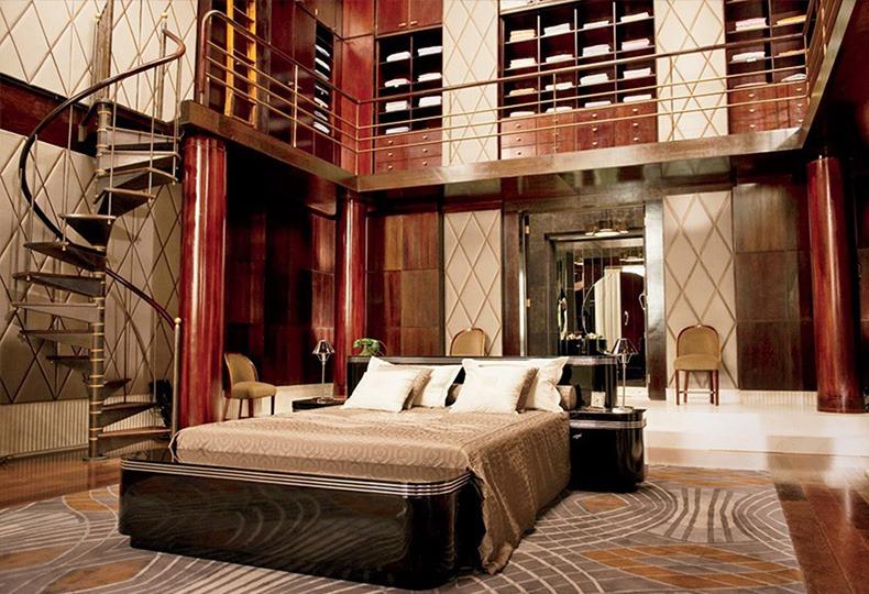 Интерьер в стиле ар-деко. Спальня Гэтсби