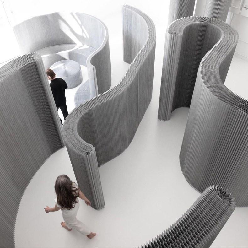Maison & Objet Paris, сентябрь 2019: выбор Design Mate. Коллекция мебели из бумаги алюминиевого цвета, molo