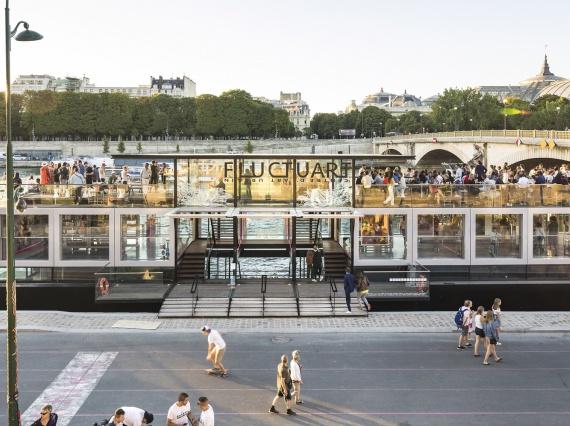 Seine Designпостроили галерею уличного искусства, в которой течет вода из Сены