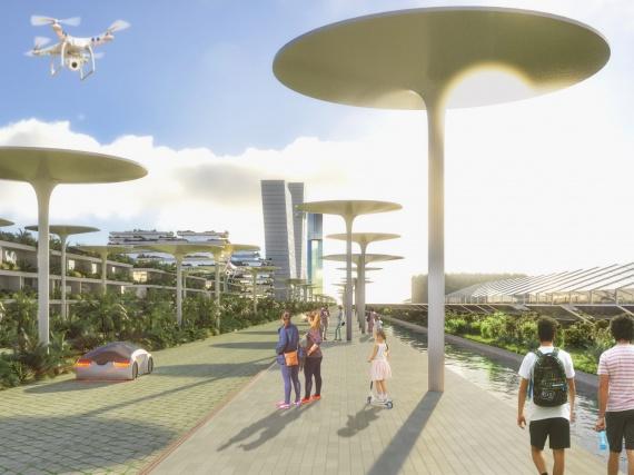 Стефано Боэри создал проект эко-города, похожего на утопию из научной фантастики