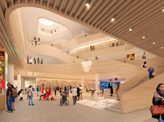 Snøhetta и Сlark Nexsen построят пятиэтажную библиотеку в Шарлотте