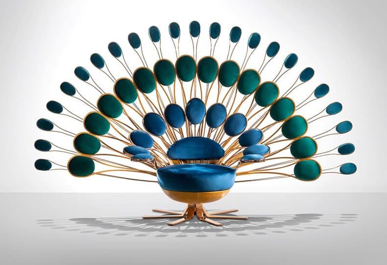 Кресла-павлины от Марка Анже