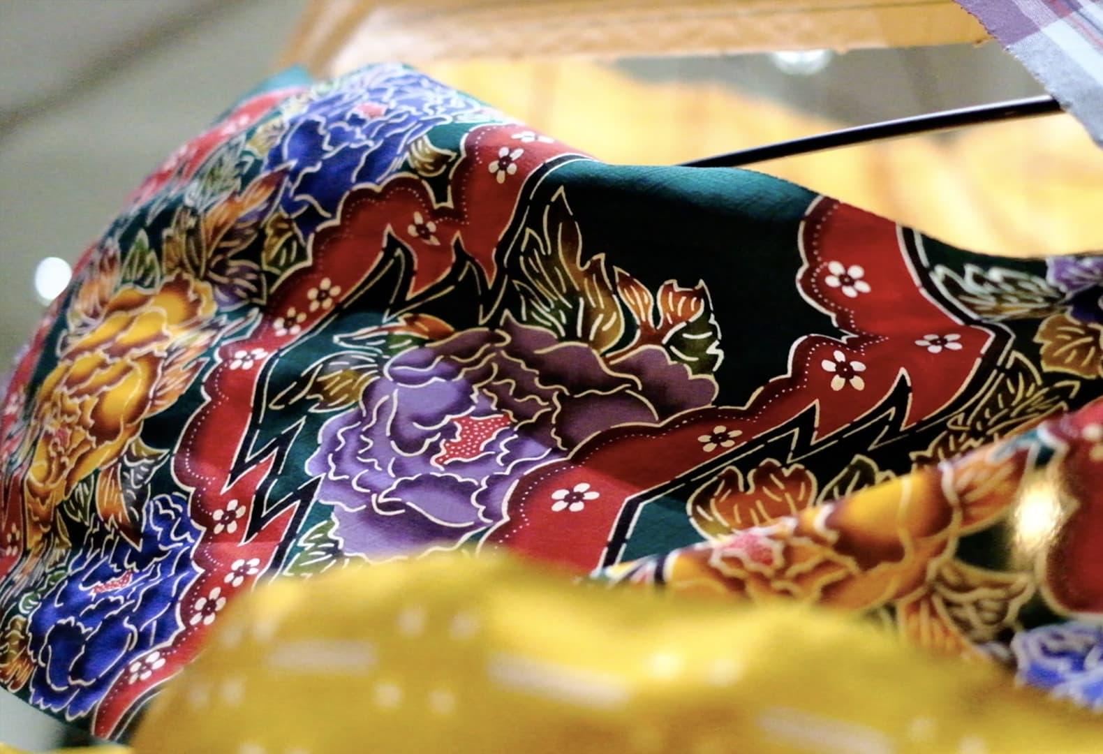 Тканевая инсталляция Сейтаро Ямазаки