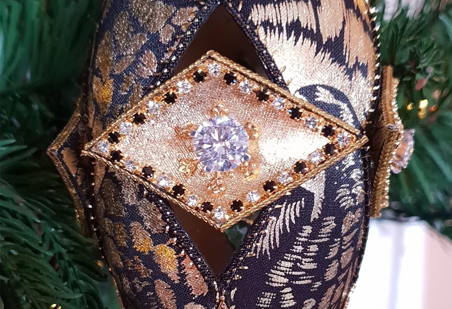 Бриллиантовые елочные шары Дебби Уингхэм