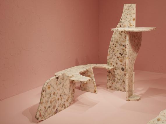 Мебельные скульптуры из белой смолы от Марцина Русака