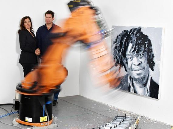 Метамодернизм: робот рисует портреты художников
