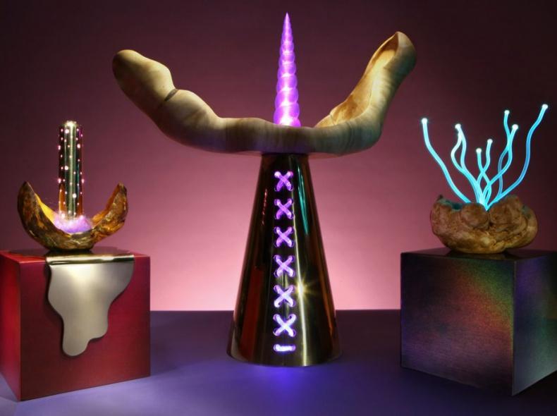 Художница Aйя Юдес представила инопланетные лампы