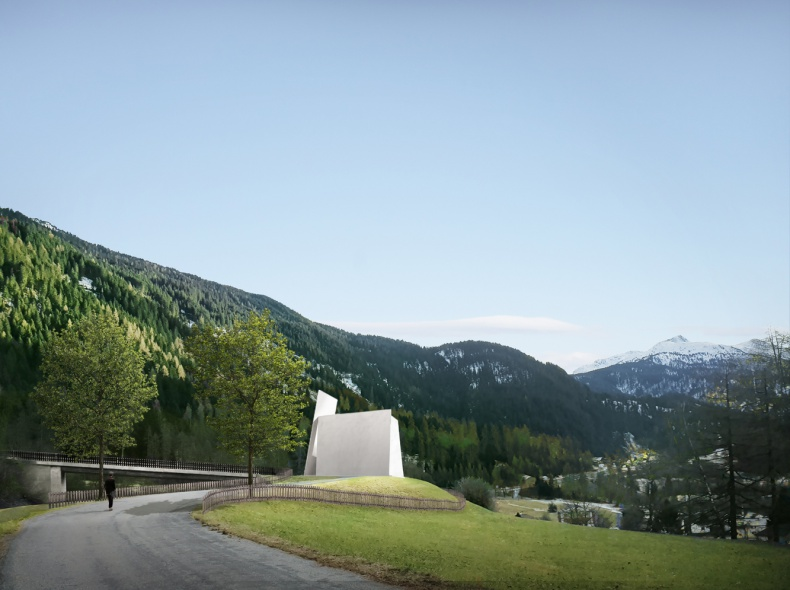 Herzog & de Meuron представили New Motorway Chapel для Швейцарии