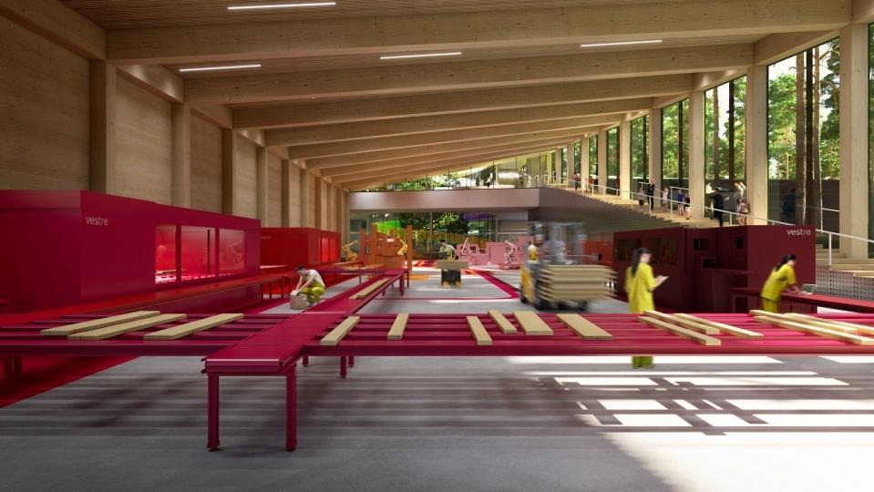 BIG построят самую экологичную мебельную фабрику в норвежском лесу
