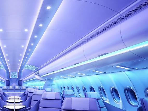 Օդային տարածությունը է Airbus: ուղեւորների հարմարավետությունը